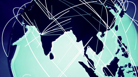 Network Connections Globe v 4 4 Animation