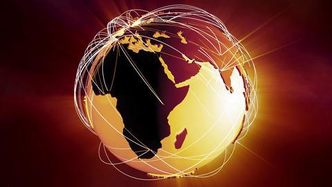 4 K Network Connections Globe v 5 2 Animation