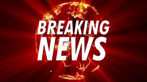 4K Shining Globe Breaking News 1 stock footage