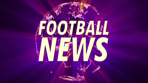 4 K Shining Globe Football News 4 Animation