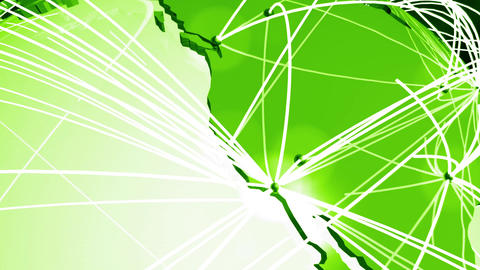 Network Connections Globe V1 3 stock footage