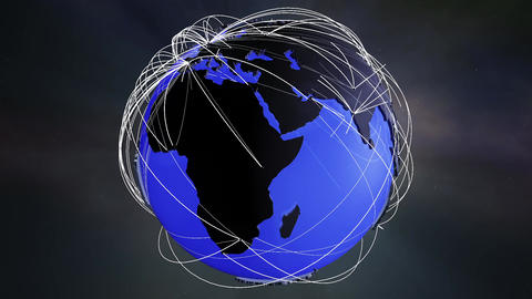 Network Connections Globe v5 1 Animation