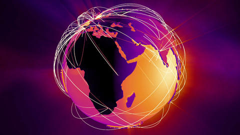 Network Connections Globe v5 5 Animation