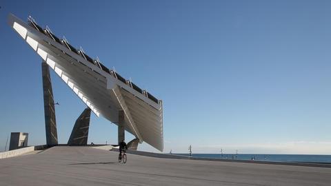 Big solar panel Footage