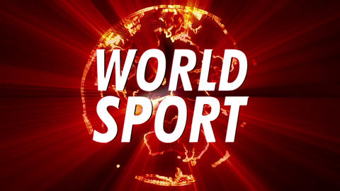 Shining Globe World Sport 1 stock footage