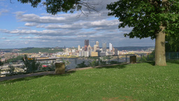Pittsburgh Establishing Shot stock footage