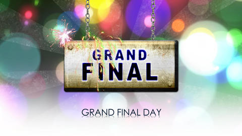 Grand Final Sign stock footage