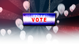 vote sign on background Animation