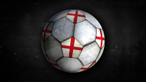 England Ball Rotation Looping Alpha Matte 4k Animation