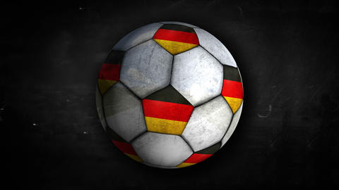 Germany Ball Rotation Looping Alpha Matte 4k Animation