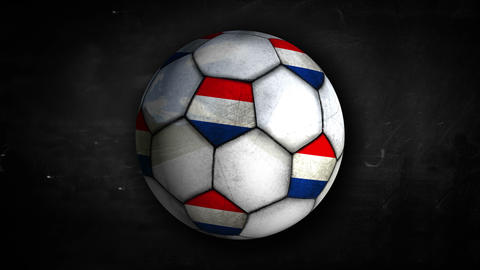 Netherlands Ball Rotation Looping Alpha Matte 4K R Animation