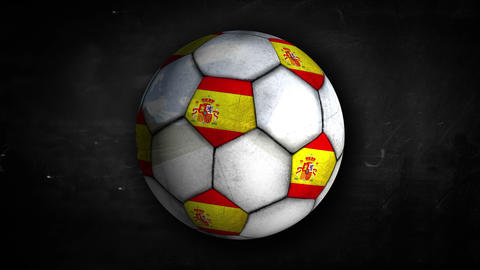 Spain Ball Rotation Looping Alpha Matte 4K Resolti Animation