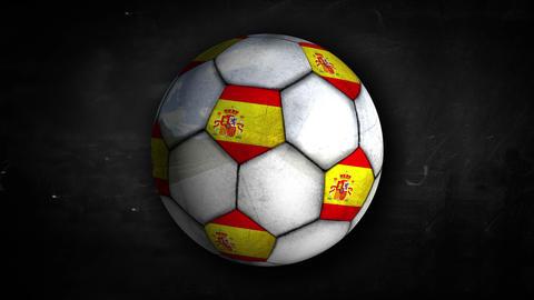 Spain Ball Rotation Looping Alpha Matte 4K Resolti Animation