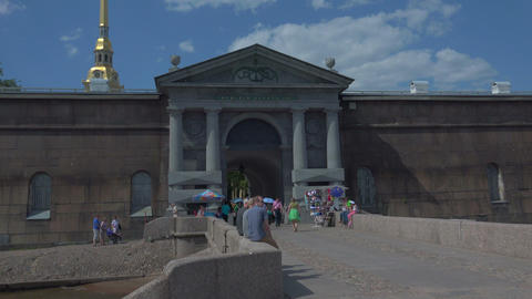 Neva gate of the Peter and Paul fortress. St. Pete Footage