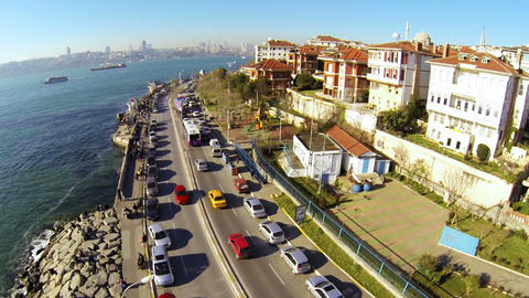 High angle panoramic view at Istanbul Footage