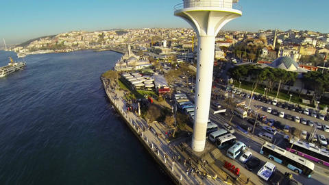 Uskudar view from near the radar tower in Istanbul Footage