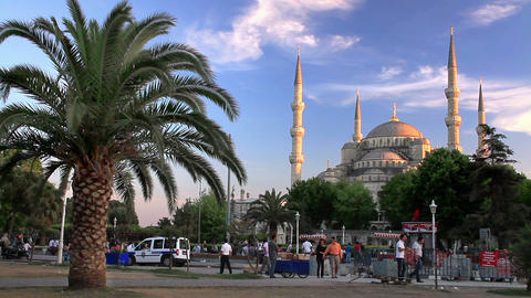 Blue Mosque, Sultanahmet Square stock footage