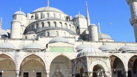 Blue Mosque In Istanbul stock footage