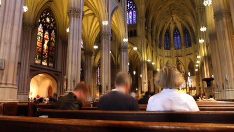 Cathedral Time Lapse stock footage