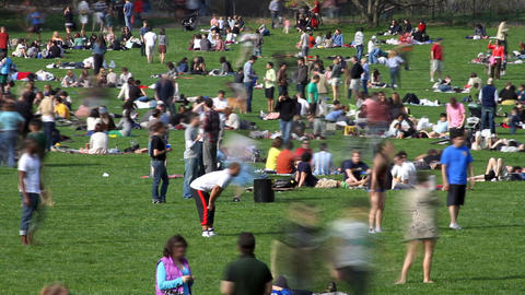 Crowded Park Time Lapse Footage