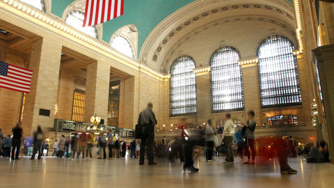 Grand Central Time Lapse 2 stock footage