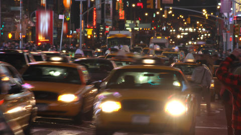 Night Street Time Lapse Footage
