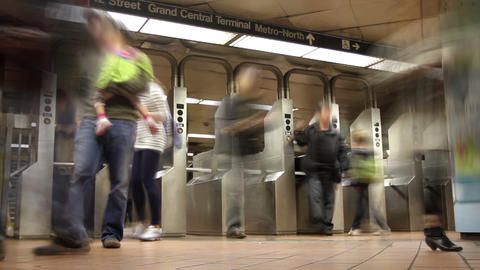 Subway Turnstiles Time Lapse Footage