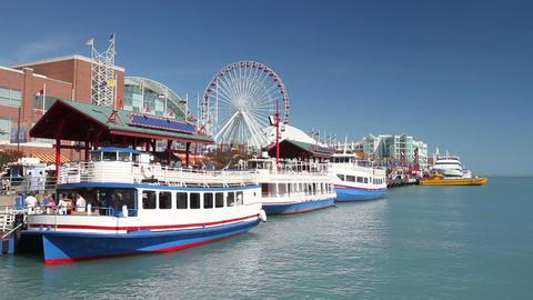 Navy Pier in Chicago Footage