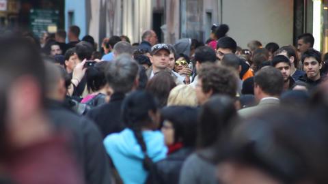 Crowd Walking in Slow Motion Footage