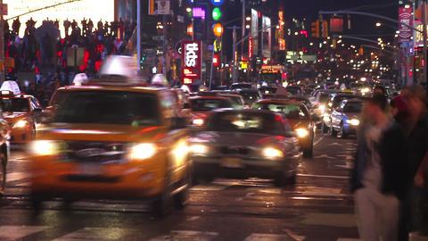 Night Street Time Lapse 2 Footage