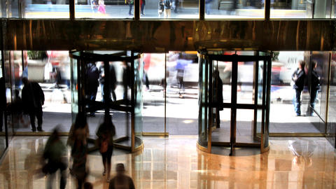 Revolving Doors Time Lapse stock footage