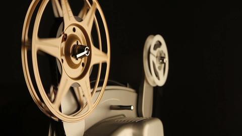 Film Spools on Projector Stock Video Footage