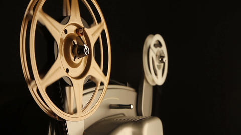 Film Spools On Projector stock footage