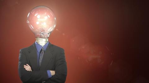 Light Bulb Head Footage