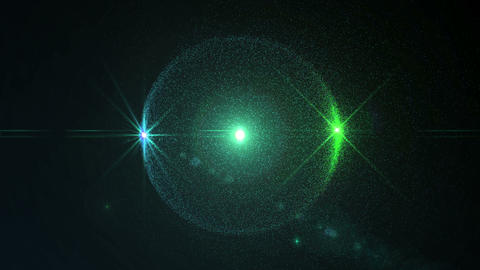 Particles Sphere Optical Flare Blue Green Looping  Animation
