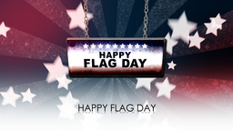 happy flag day Animation