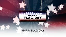 happy flag day Animación