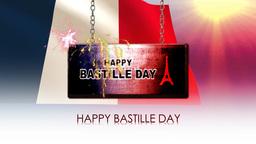 happy bastille day Animación