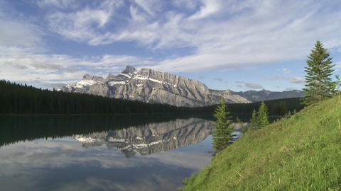 Mountain Reflection 01 stock footage