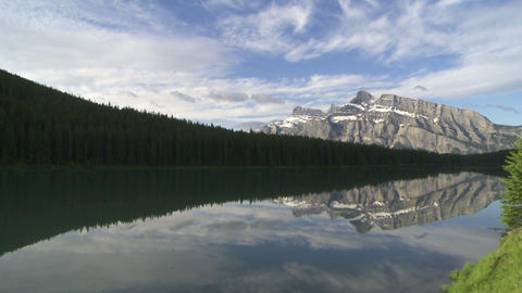 Mountain Reflection pan 02 Footage