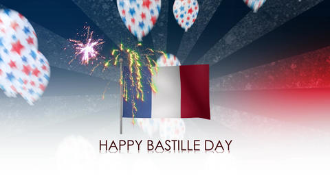 Happy Bastille Day stock footage