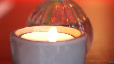 candle orange background Footage