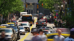 Pittsburgh Traffic Timelapse stock footage