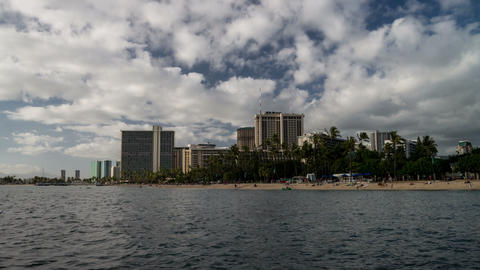 Waikiki Beach Seamless Time Lapse Loop stock footage