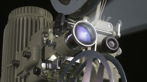 Film Projector m 01 smoke 01 Footage