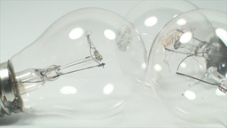 Economic Light Bulbs On A White Background, Power, Live Action