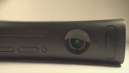 Gaming Console Hand Detail Pushing The Power Butto Live Action