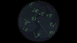 4K Air Traffic Controller Screen stock footage
