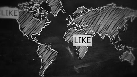 Like Connection World Motion Graphic Animation