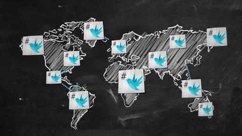 twitter Connection World Motion Graphic Animation